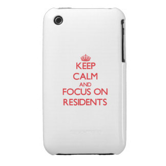 Keep Calm and focus on Residents iPhone 3 Covers