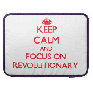 Keep Calm and focus on Revolutionary MacBook Pro Sleeve