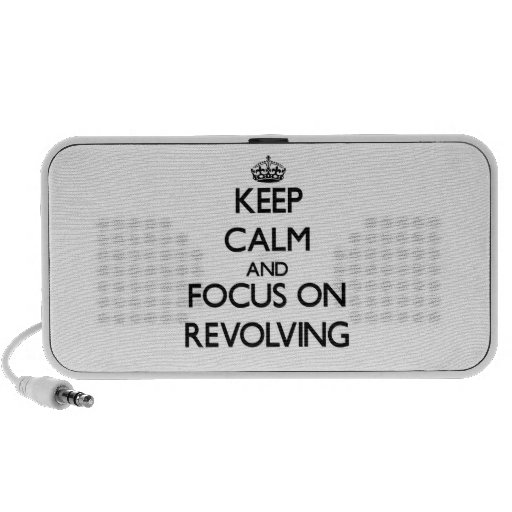 Keep Calm and focus on Revolving Laptop Speaker
