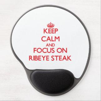 Keep Calm and focus on Ribeye Steak Gel Mouse Pad