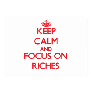 Keep Calm and focus on Riches Pack Of Chubby Business Cards