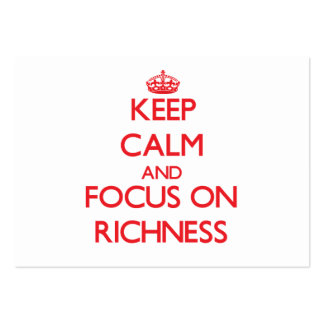 Keep Calm and focus on Richness Pack Of Chubby Business Cards