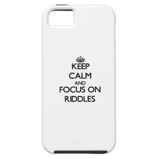 Keep Calm and focus on Riddles iPhone 5 Cases