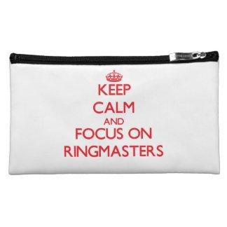 Keep Calm and focus on Ringmasters Makeup Bag