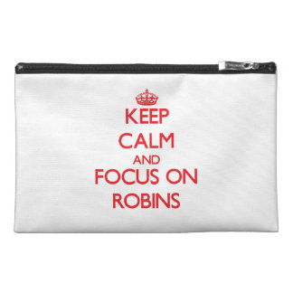 Keep Calm and focus on Robins Travel Accessories Bags