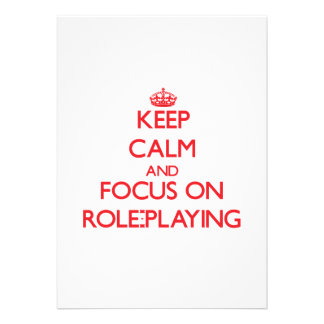 Keep Calm and focus on Role-Playing Invites