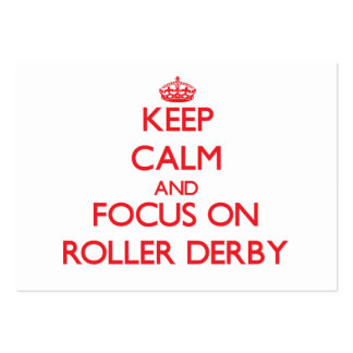 Keep calm and focus on Roller Derby Business Cards