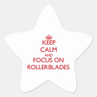 Keep Calm and focus on Rollerblades Star Sticker
