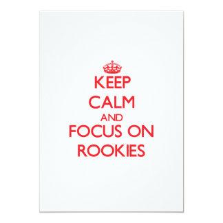 Keep Calm and focus on Rookies 13 Cm X 18 Cm Invitation Card