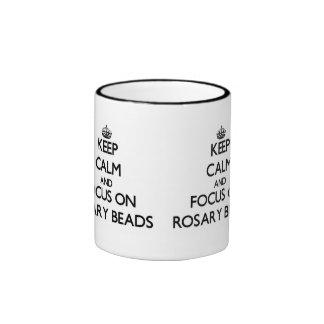 Keep Calm and focus on Rosary Beads Mug