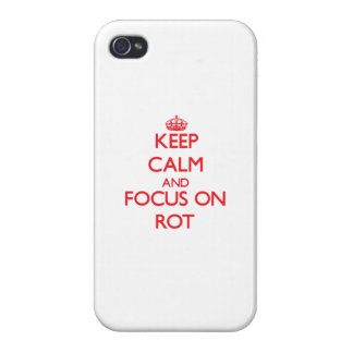 Keep Calm and focus on Rot iPhone 4/4S Cover