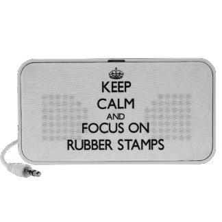 Keep Calm and focus on Rubber Stamps Travel Speaker