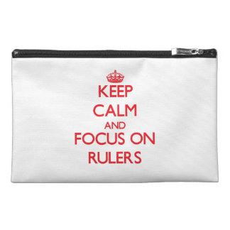 Keep Calm and focus on Rulers Travel Accessory Bag
