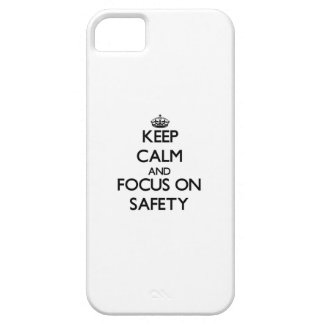 Keep Calm and focus on Safety iPhone 5 Cover