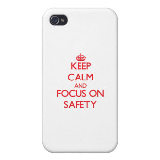 Keep Calm and focus on Safety iPhone 4 Covers