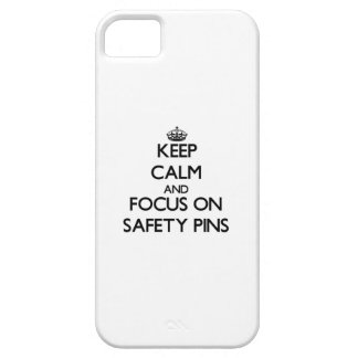 Keep Calm and focus on Safety Pins Cover For iPhone 5/5S