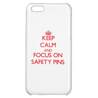 Keep Calm and focus on Safety Pins Cover For iPhone 5C