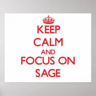Keep Calm and focus on Sage Print