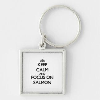 Keep Calm and focus on Salmon Keychains