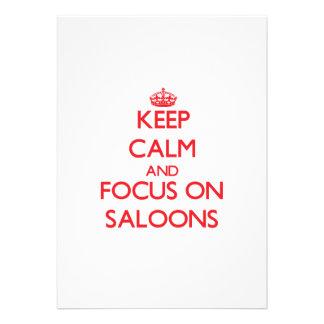 Keep Calm and focus on Saloons Custom Invitation