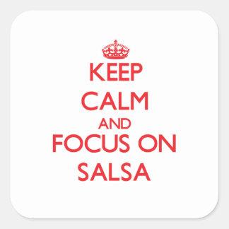 Keep Calm and focus on Salsa Sticker