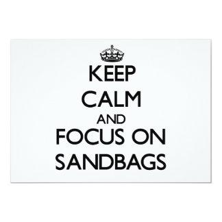Keep Calm and focus on Sandbags 13 Cm X 18 Cm Invitation Card