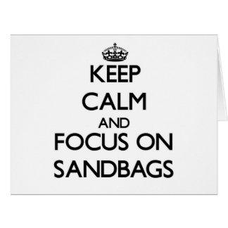 Keep Calm and focus on Sandbags Large Greeting Card