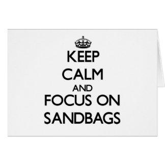 Keep Calm and focus on Sandbags Note Card