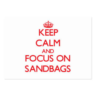 Keep Calm and focus on Sandbags Pack Of Chubby Business Cards