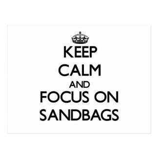 Keep Calm and focus on Sandbags Postcard