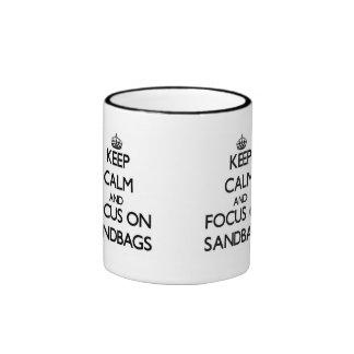 Keep Calm and focus on Sandbags Ringer Mug