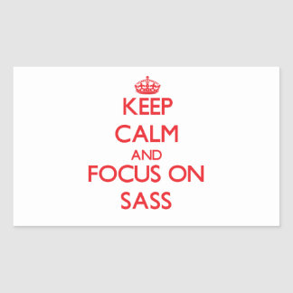 Keep Calm and focus on Sass Sticker