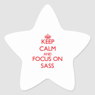 Keep Calm and focus on Sass Star Stickers