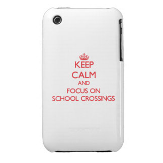 Keep Calm and focus on School Crossings iPhone 3 Case-Mate Cases
