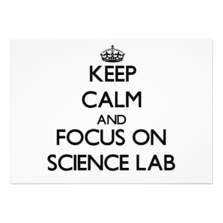 Keep Calm and focus on Science Lab Cards