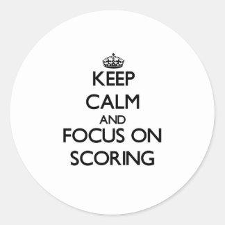 Keep Calm and focus on Scoring Sticker