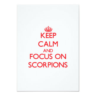 Keep calm and focus on Scorpions Custom Invite