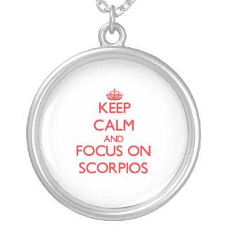 Keep Calm and focus on Scorpios Pendants
