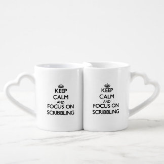 Keep Calm and focus on Scribbling Couple Mugs