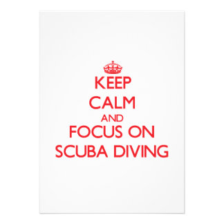Keep Calm and focus on Scuba Diving Announcement