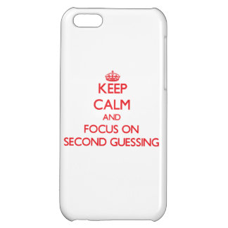 Keep Calm and focus on Second Guessing iPhone 5C Covers