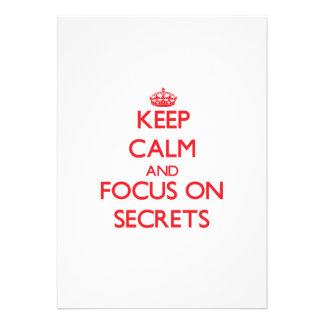 Keep Calm and focus on Secrets Invite
