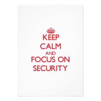 Keep Calm and focus on Security Custom Announcements
