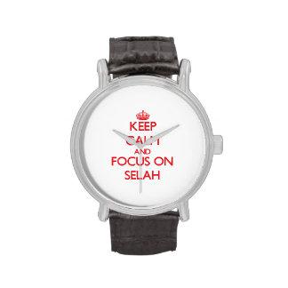 Keep Calm and focus on Selah Wrist Watch