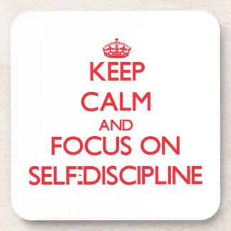Keep Calm and focus on Self-Discipline Coaster