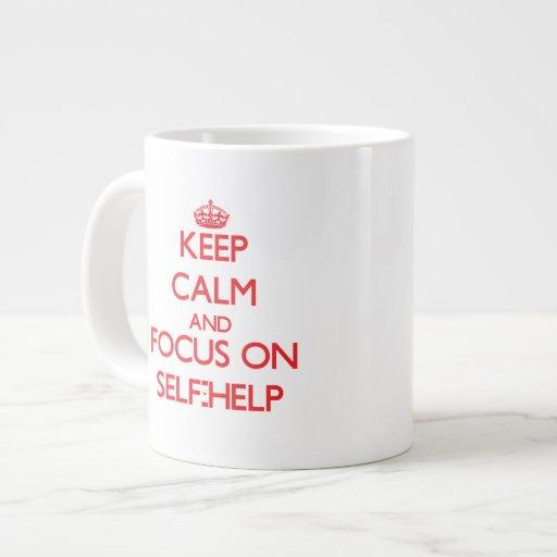 Keep Calm and focus on Self-Help Extra Large Mugs