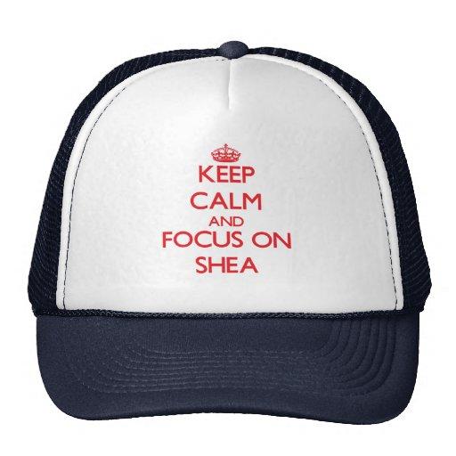 Keep Calm and focus on Shea Mesh Hats
