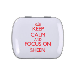 Keep Calm and focus on Sheen Jelly Belly Tins