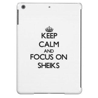 Keep Calm and focus on Sheiks iPad Air Covers