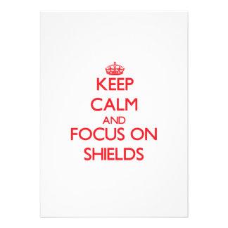 Keep Calm and focus on Shields Custom Invite